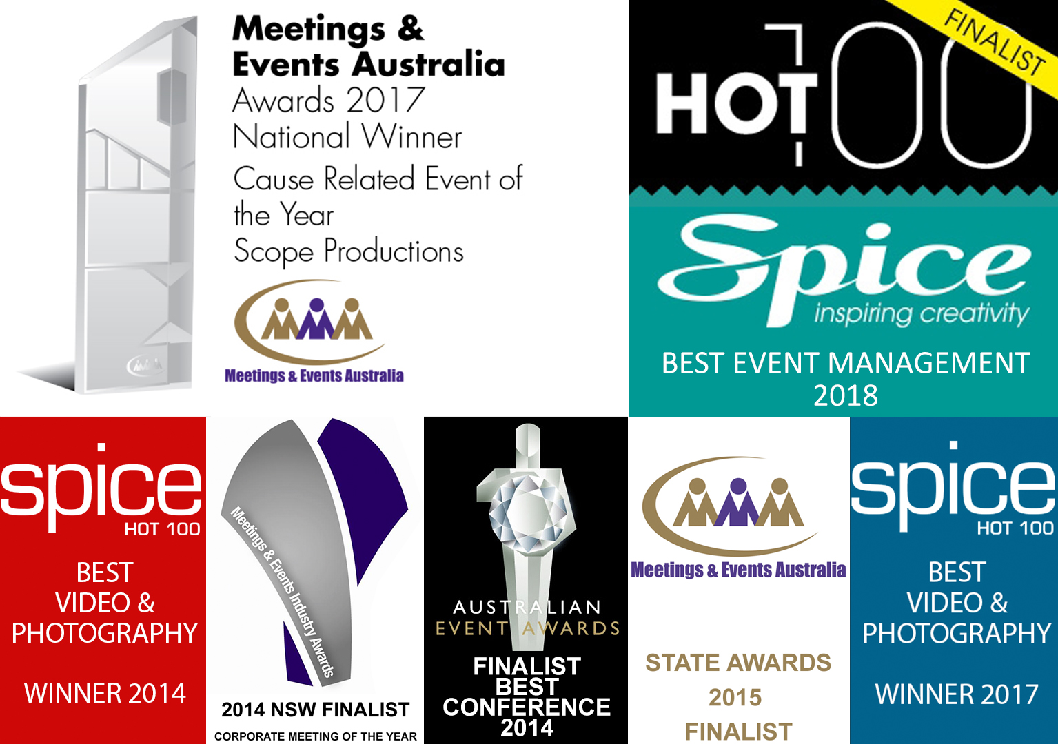 Awards Received By Scope Productions